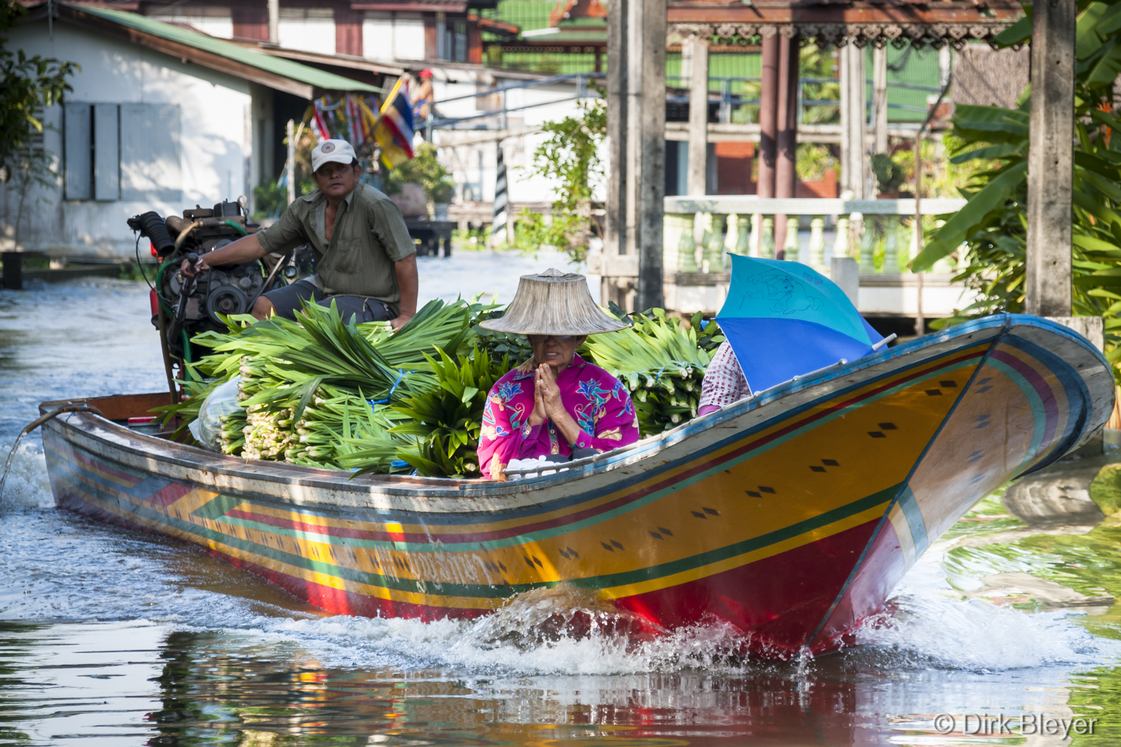 Unterwegs in den Klongs in Bangkok